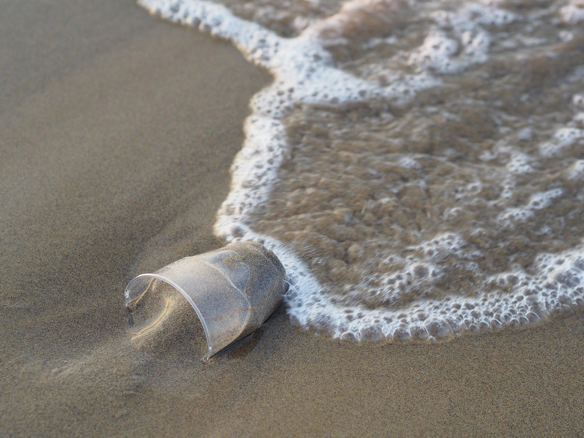Plastikbecher Strand