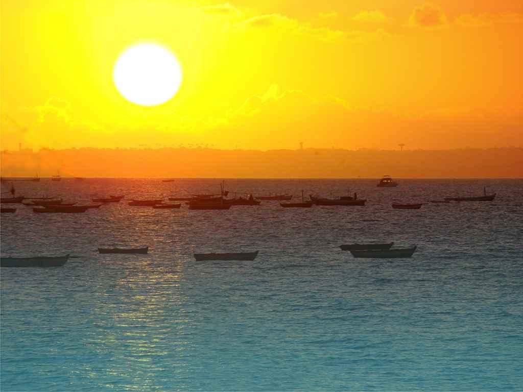 Salvador Sonnenuntergang am Horizont
