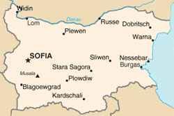 Geografie Bulgarien