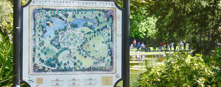 Der Lageplan des Parks, damit niemand verloren geht
