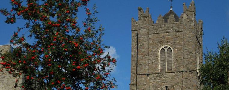 Der Turm von St. Michan's stammt aus dem 13. Jahrhundert