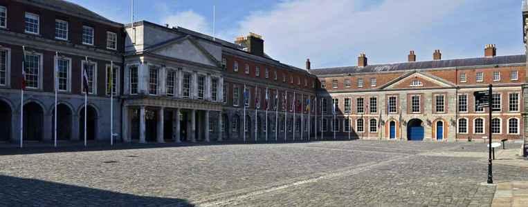 Der Upper Yard genannte Innenhof. Hier fand 1922 die offizielle Machtübergabe von England an Irland statt