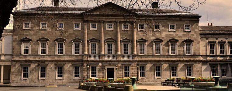 Das irische Parlamentsgebäude Leinster House