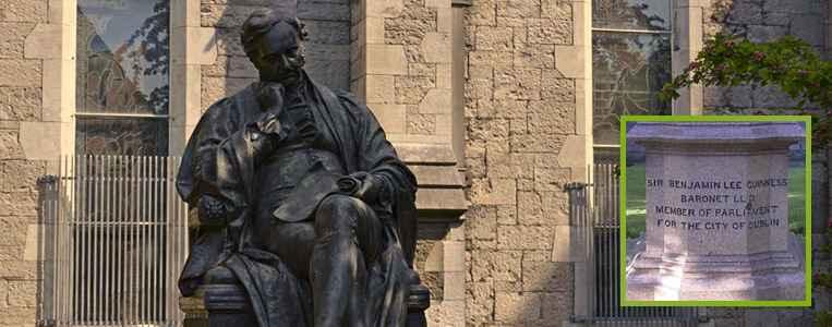 Statue von Sir Benjamin Lee Guinness nahe der Kathedrale
