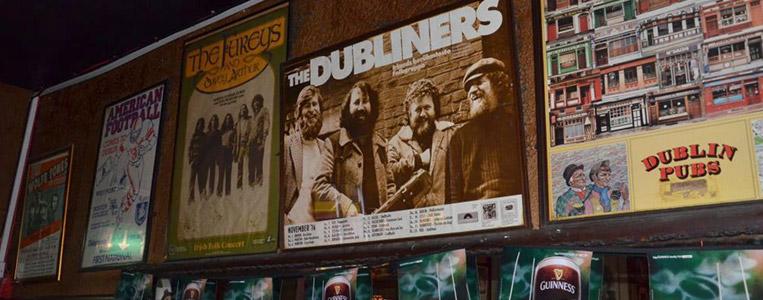 """Werbeplakat für die Deutschland-Tournee der """"Dubliners"""" 1976"""