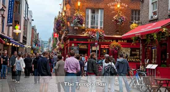 Das berühmte Dubliner Stadtviertel Temple Bar