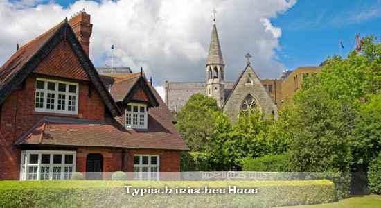 Typisch irische Häuser in Dublin