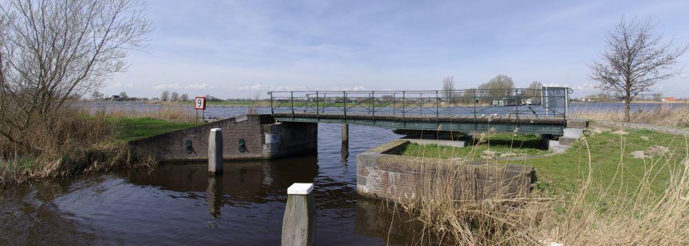 Eine Drehbrücke an der Utrechtschen Vecht