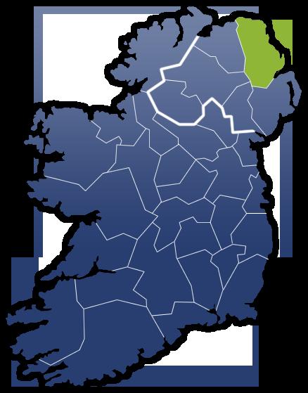 County Antrim - Irland Karte