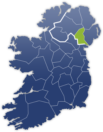 County Armagh - Irland Karte