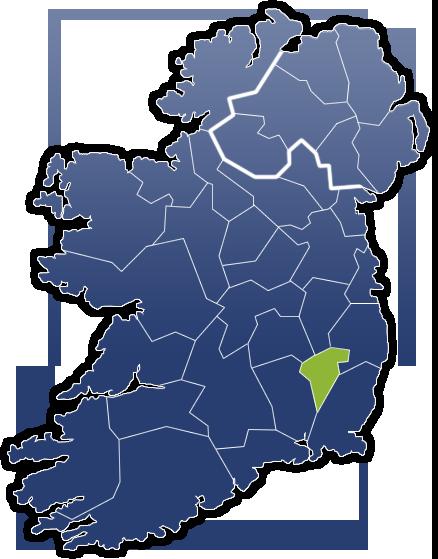 County Carlow - Irland Karte