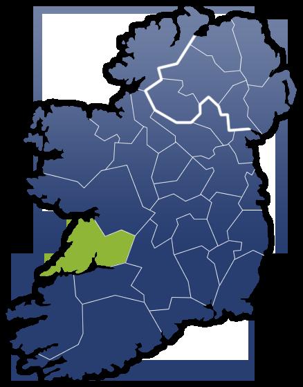 County Clare - Irland Karte