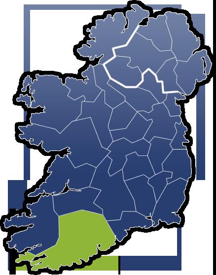 County Cork - Irland Karte