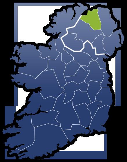 County Derry - Irland Karte