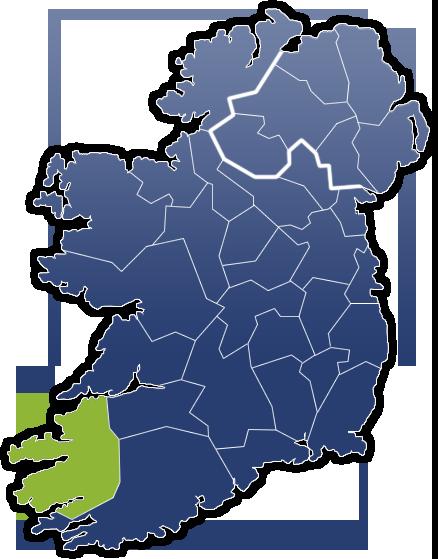 County Kerry - Irland Karte