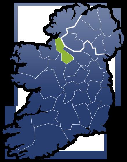 County Leitrim - Irland Karte