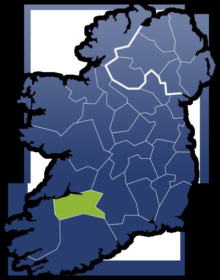 County Limerick - Irland Karte