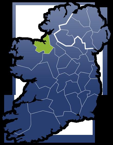County Sligo - Irland Karte