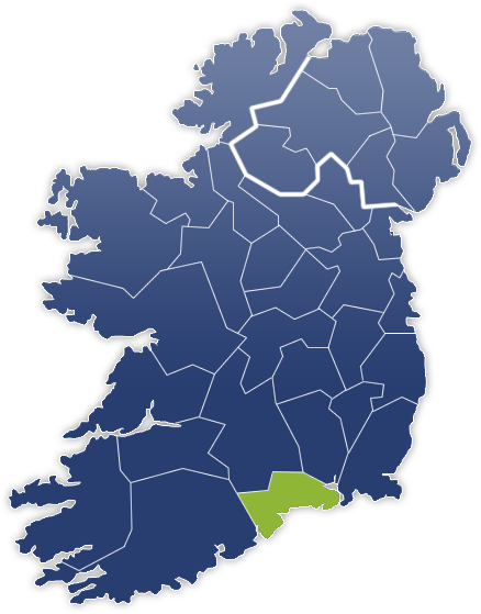 County Waterford - Irland Karte