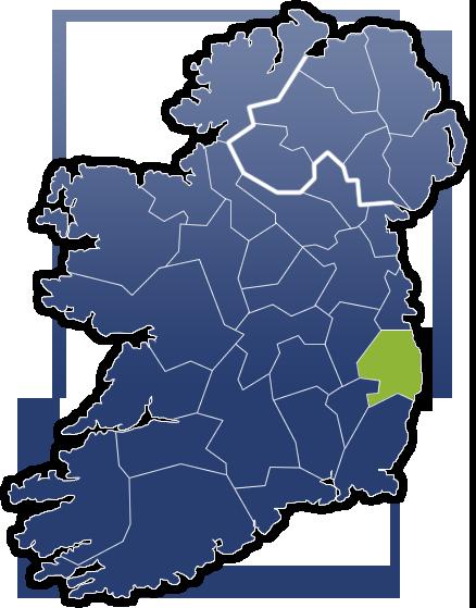 County Wicklow - Irland Karte