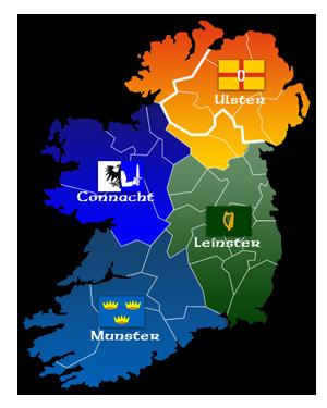 Verwaltungskarte von Irland