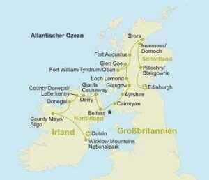 10-tägige Rundreise durch Irland & Schottland