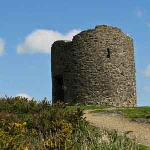Die Ruine der Windmühle auf Vinegar Hill: Das Festival Vinegar Hill Battle Re-enactment lässt die historische Schlacht von 1798 wieder aufleben.