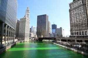 Chicago River grün eingefärbt