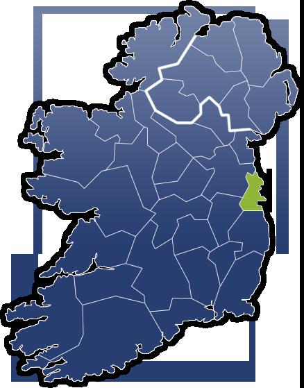 County Dublin - Irland Karte