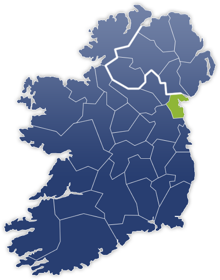 County Louth - Irland Karte
