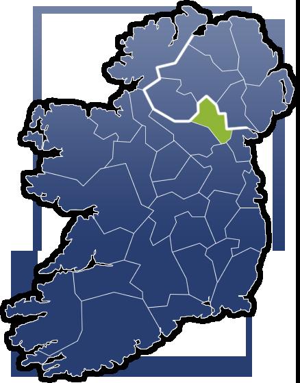 County Monaghan - Irland Karte