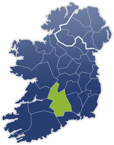 County Tipperary - Irland Karte