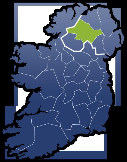 County Tyrone - Irland Karte