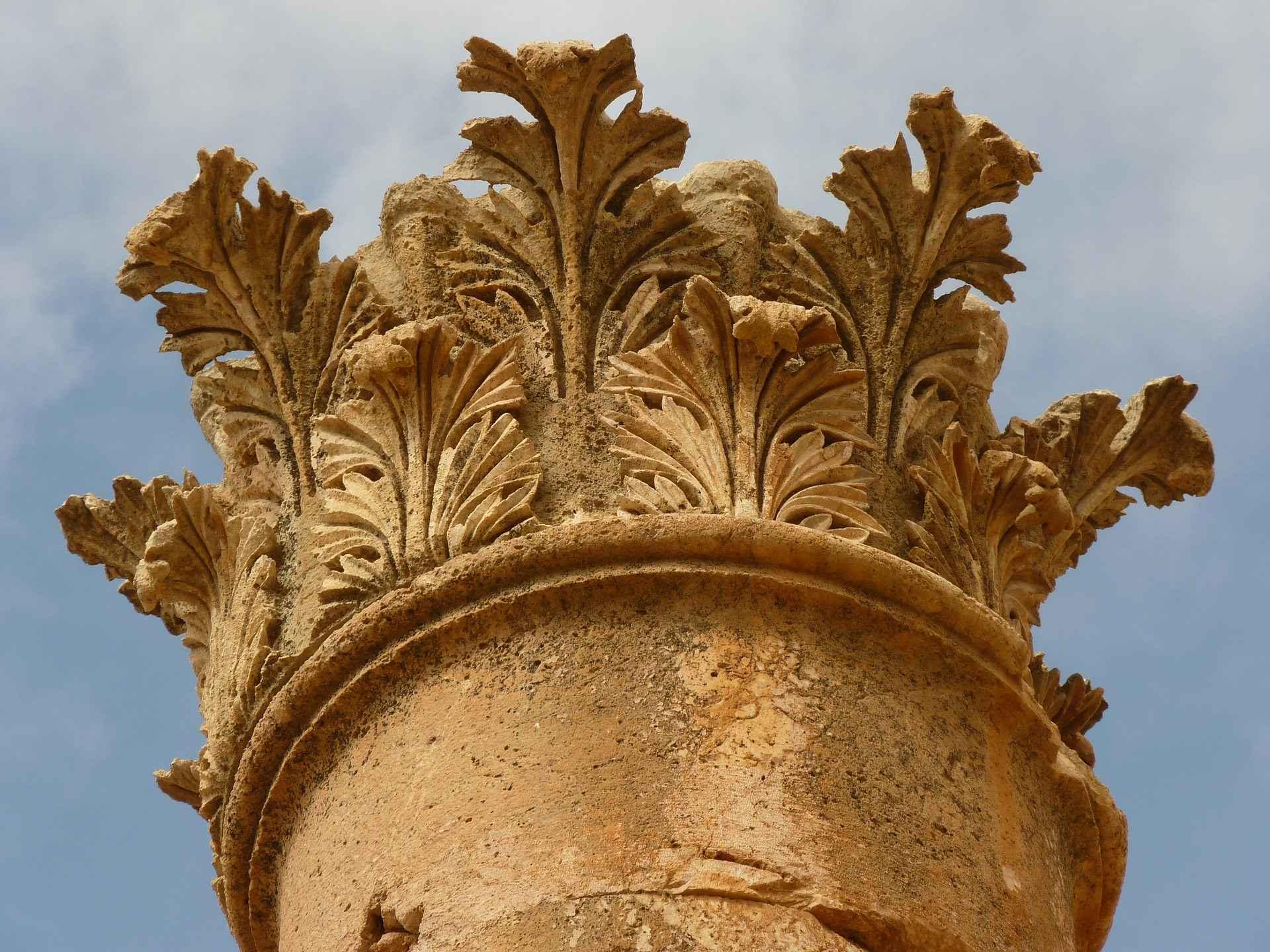 gerasa artemis tempel verzierung