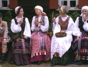 Nationalkostüme in Sulvalkija