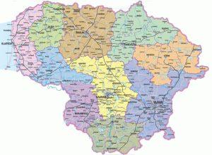 Karte von Litauen