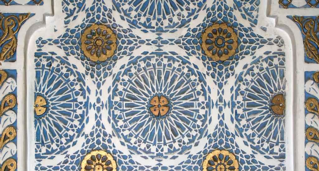 Ornamente einer marokkanischen Wanddekoration