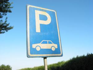 Parkplatz Schild