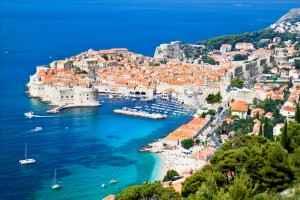 Dubrovnik an der Mittelmeerküste von Kroatien