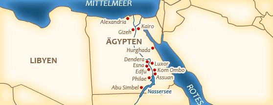 Karte vom Nil