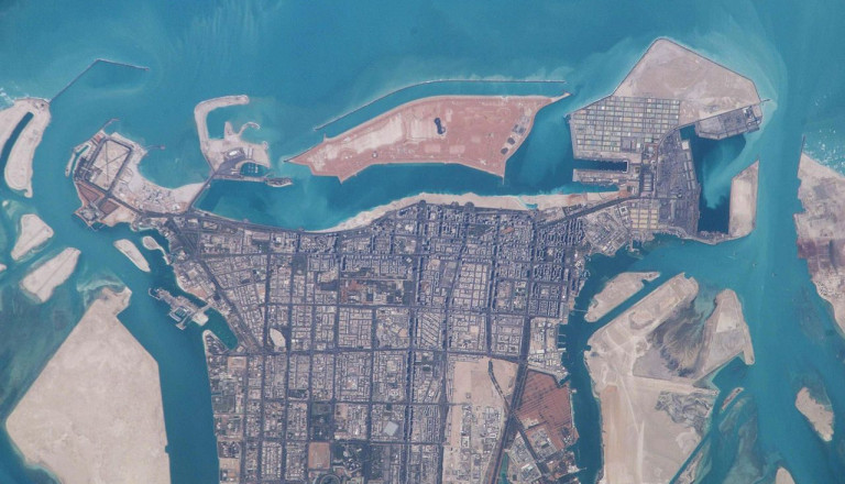 Abu Dhabi Strände from Space