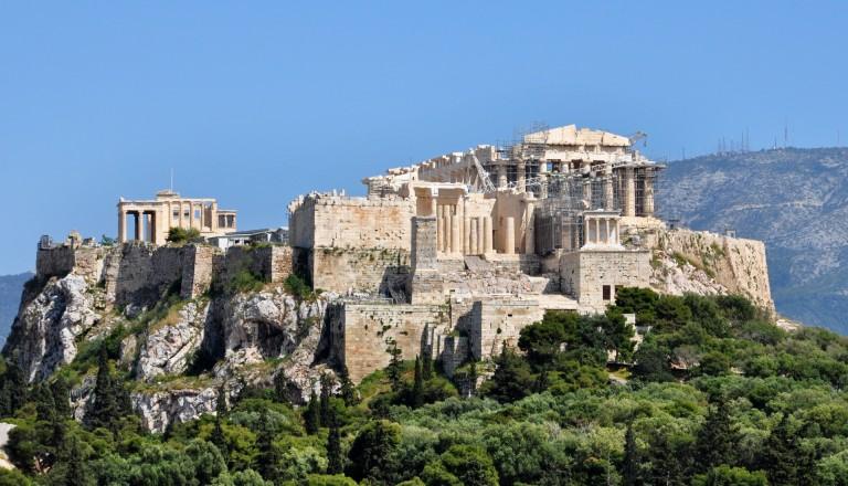 Athens Wahrzeichen: Die Akropolis.
