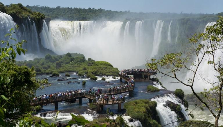 Die Iguazu Wasserfälle in Argentinien.