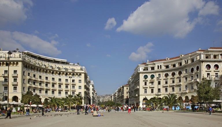 Der Aristoteles Platz in Thessaloniki