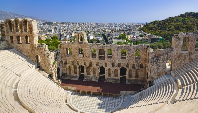 Das Odeon des Herodes Atticus Theater in Athen