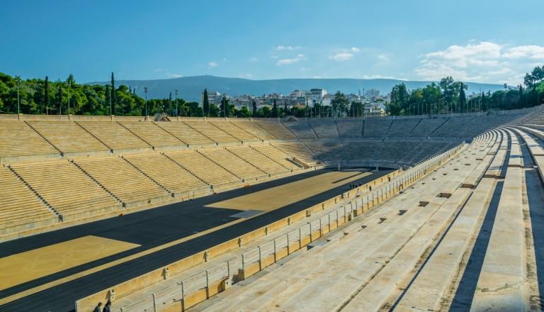 Das Panathinaiko-Stadion: Ziel des Athener Marathon.