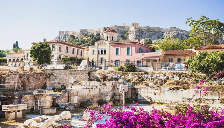 Das Altstadtviertel Plaka von Athen