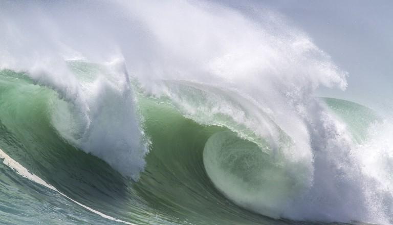 Die Wellen von Bali sind nicht zu unterschätzen.