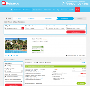 Screenshot Deals Algarve Hotel Clube Porto Mos