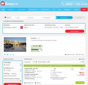 Screenshot Deals Ibiza Hotel Nereida